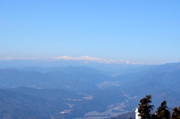 富士見台高原から白山