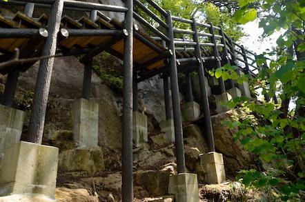 田立の滝 登山道