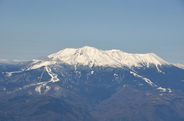 木曽駒ヶ岳 山頂からの眺め 御嶽山
