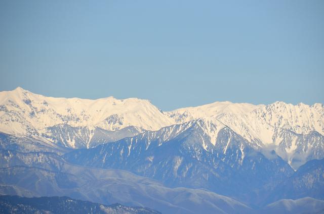 木曽駒ヶ岳 山頂からの眺め 北穂高岳 大キレット