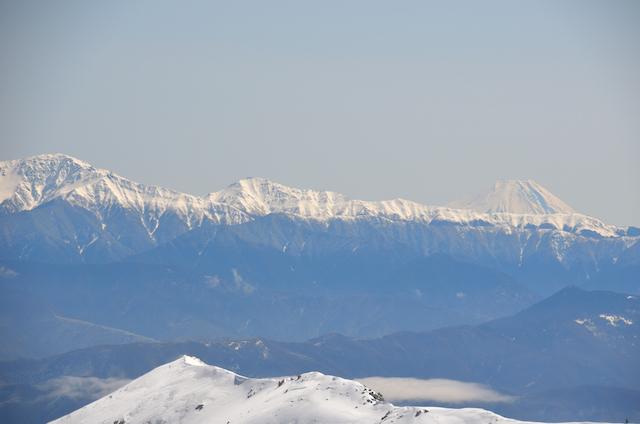 木曽駒ヶ岳 山頂からの眺め 塩見岳 富士山