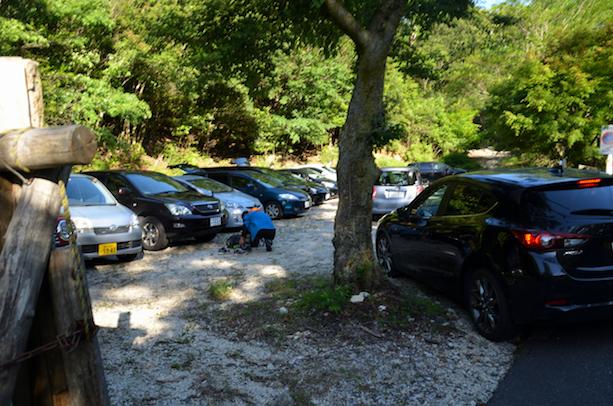 宇賀渓キャンプ場 臨時駐車場