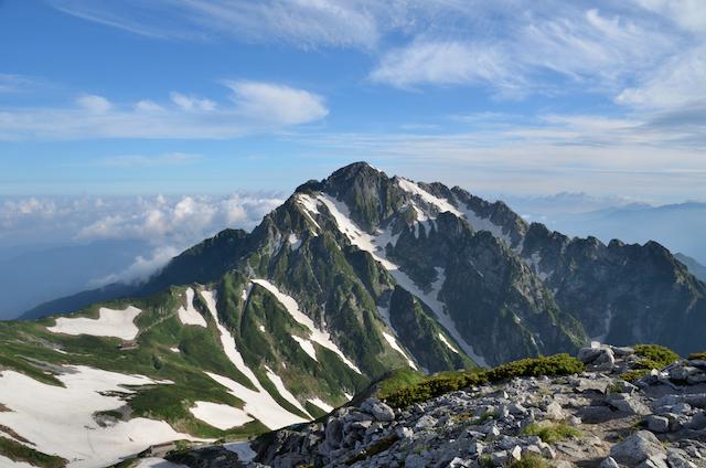 別山北峰 剣岳方面
