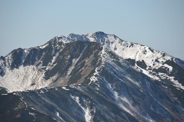 甲斐駒ヶ岳からの眺め 仙丈ヶ岳