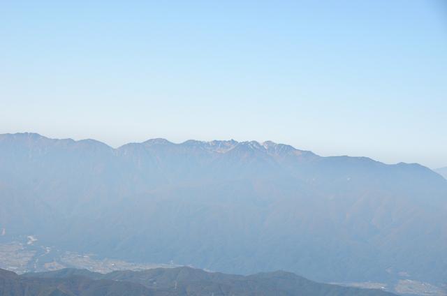 甲斐駒ヶ岳からの眺め 宝剣岳 木曽駒ヶ岳