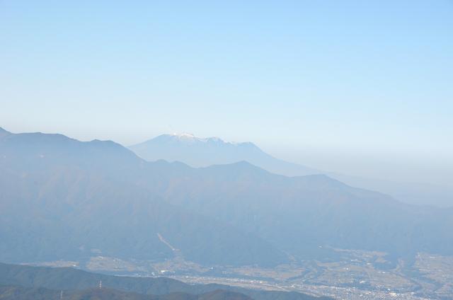 甲斐駒ヶ岳からの眺め 御嶽山