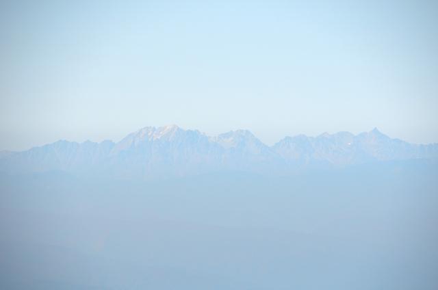 甲斐駒ヶ岳からの眺め ジャンダルム 奥穂高岳 前穂高岳 涸沢岳 北穂高岳 大キレット