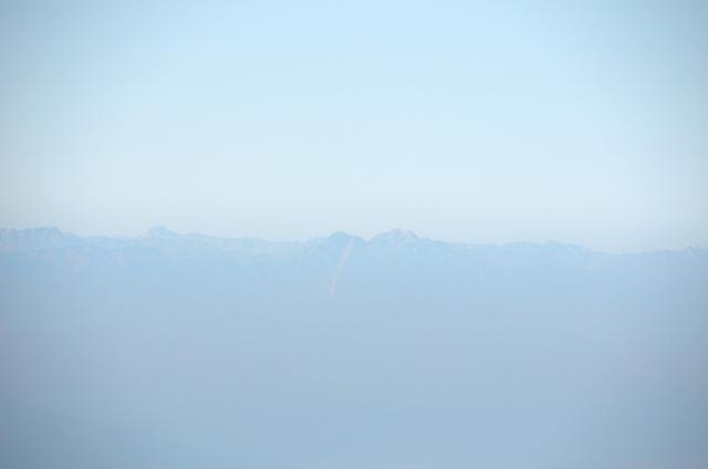 甲斐駒ヶ岳からの眺め 常念岳