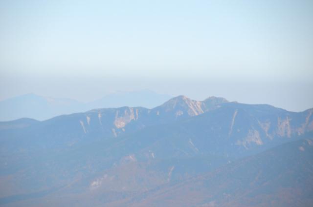 甲斐駒ヶ岳からの眺め 天狗岳