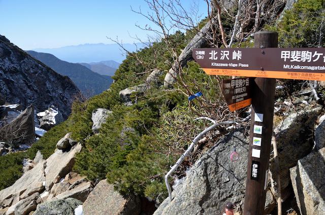 甲斐駒ヶ岳 下山 六方石