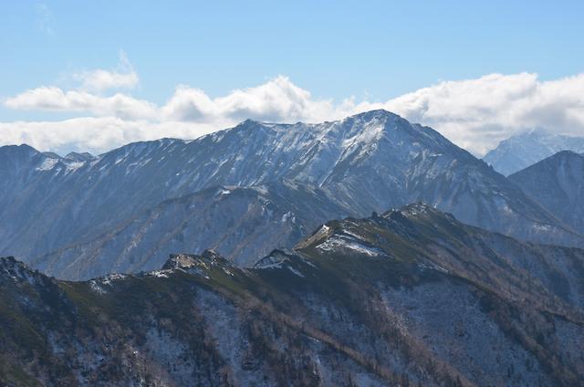 燕岳 山頂からの眺め 横通岳〜大天井岳