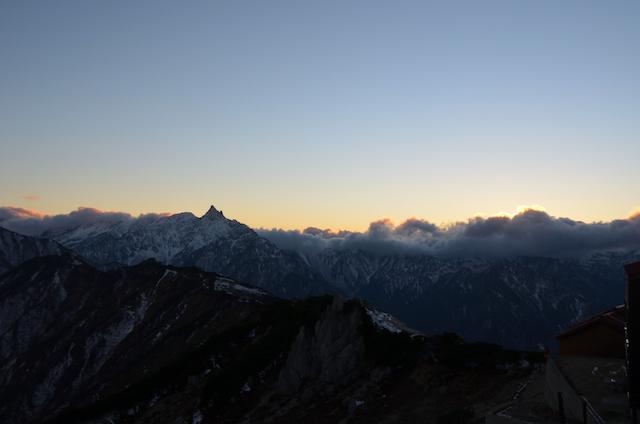 燕山荘から槍ヶ岳方面