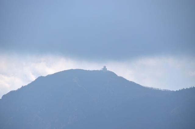 釈迦ヶ岳 県境稜線登山道 山頂〜猫岳 御在所岳方面 雨量レーダー