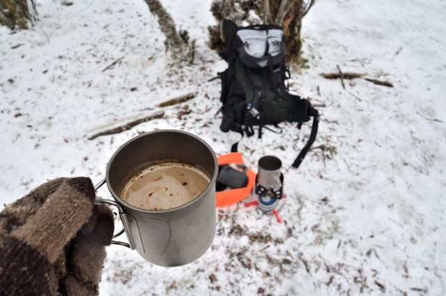三峰山 山頂 コーヒー