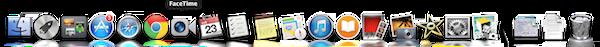 OS X Mavericks(マーベリックス)ドック