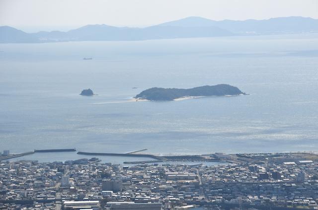 五井山 山頂からの眺め 大島