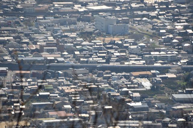 宮路山 山頂からの眺め 東海道新幹線