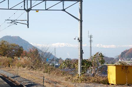山寺駅 山脈