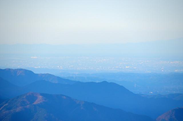 空木岳 山頂からの眺め 碧南火力発電所