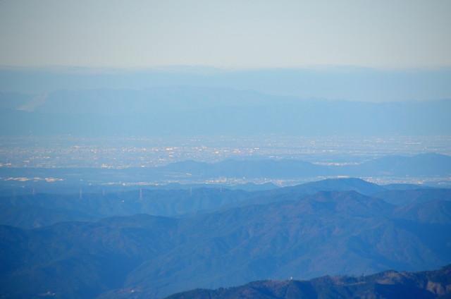 空木岳 山頂からの眺め 可児市方面