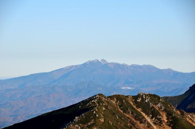 空木岳 山頂からの眺め 乗鞍岳