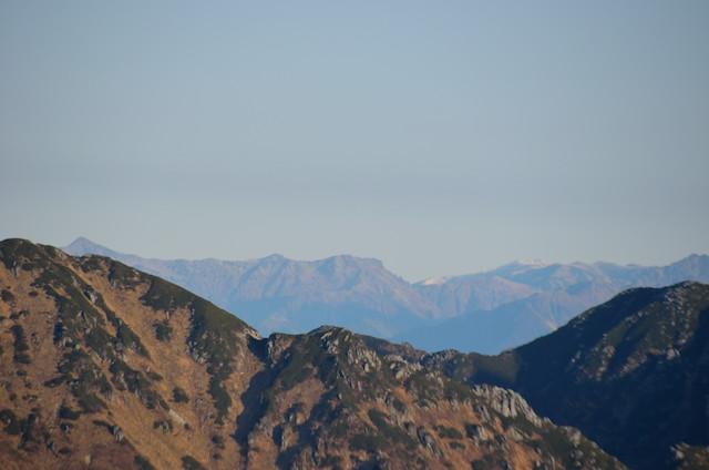 空木岳 山頂からの眺め 笠ヶ岳方面