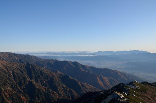 空木岳 山頂からの眺め 北東方面