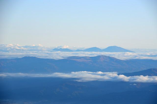 空木岳 山頂からの眺め 浅間山方面