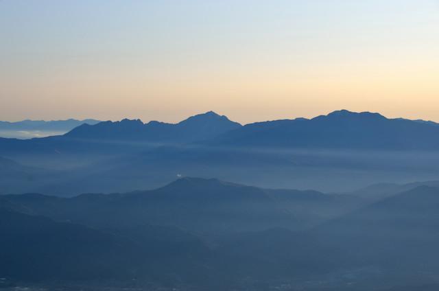 空木岳 山頂からの眺め 南アルプス 鋸岳~甲斐駒ヶ岳~仙丈ケ岳