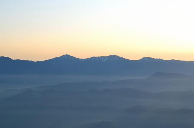 空木岳 山頂からの眺め 北岳~間ノ岳~農鳥岳