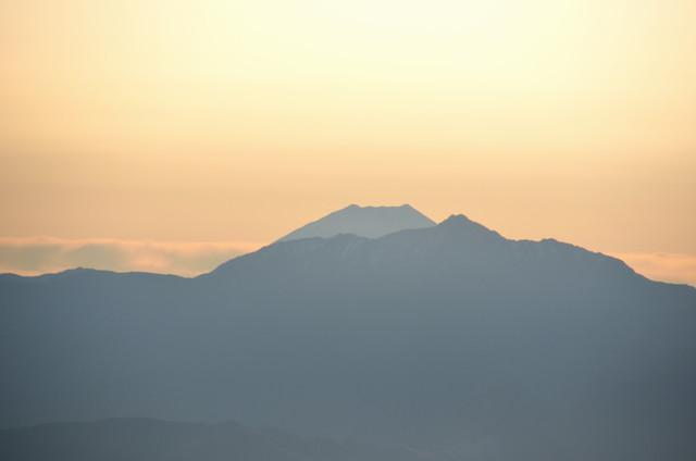 空木岳 山頂からの眺め 塩見岳 富士山