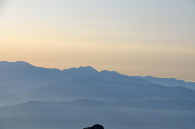 空木岳 山頂からの眺め 光岳