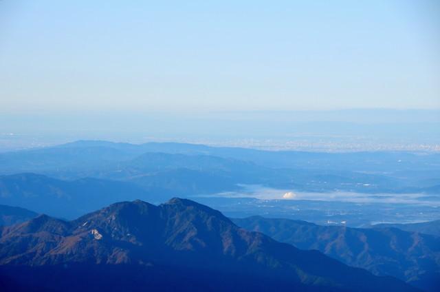空木岳山頂からの眺め