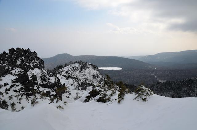 北横岳 登山 冬 三ツ岳Ⅱ峰 雨池方面