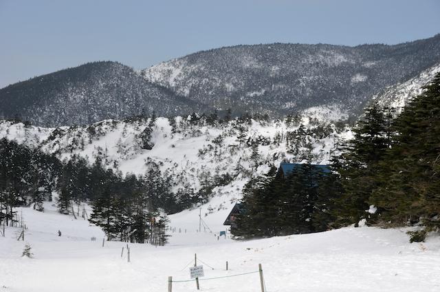 北横岳 登山 冬 雨池峠〜ロープウェイ駅