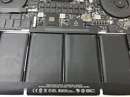 MacBook Pro (Retina, Mid 2012) 内蔵電池