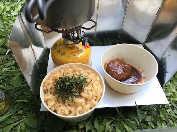 徳沢キャンプ場 夕食