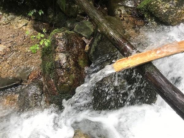 納古山 中級コース 水場