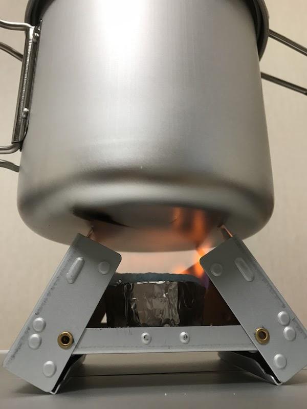 固形燃料 炊飯