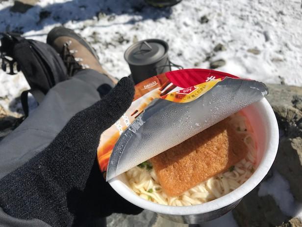仙丈ヶ岳 山頂 ご飯