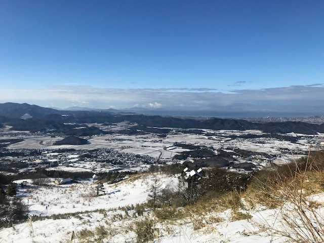 伊吹山 冬 雪山登山 2合目〜3合目