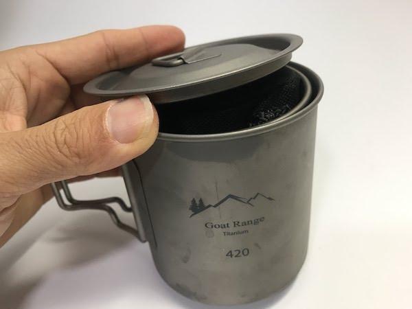 スノーピーク チタンシングルマグ300 ゴートレンジ チタン製マグカップ 420ml (蓋付き)