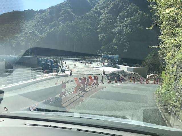 国道473号(原田橋)河川内仮設道路 左岸 新々原田橋