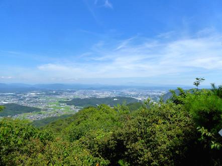明王山見晴台 東側