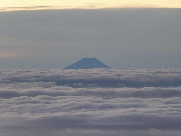 大天井岳から富士山