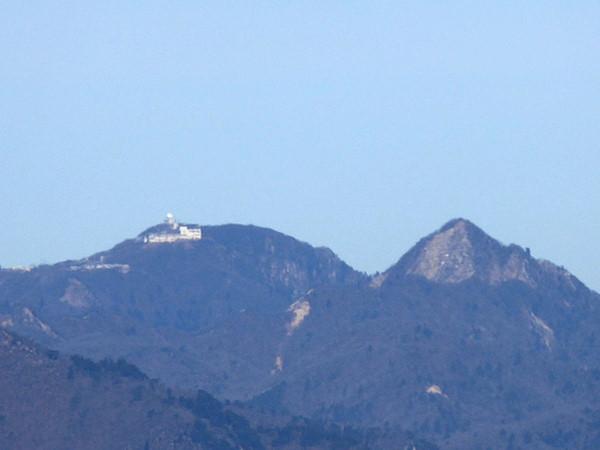 錫杖ヶ岳 山頂からの眺め 御在所岳 鎌ヶ岳