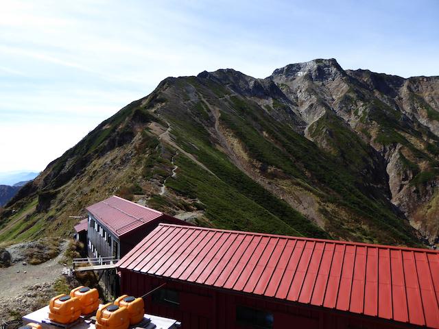 五竜山荘 遠見尾根 下山