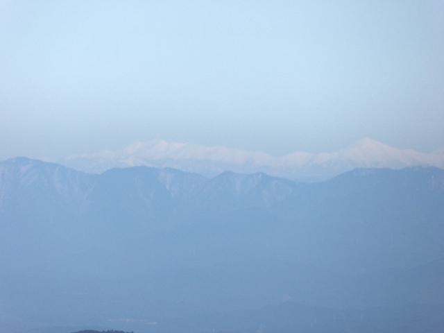 藤原岳 山頂からの眺め 剱岳から笠ヶ岳