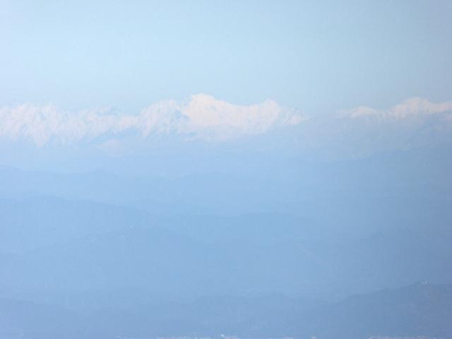 藤原岳 山頂からの眺め 奥穂高岳 前穂高岳