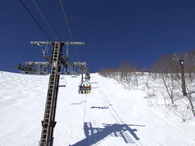 八方尾根スキー場 クワッドリフト